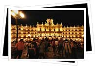 plaza mayor at night